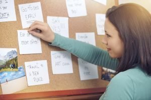 Use a vision board to help declutter your life