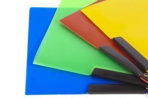 different color notebooks