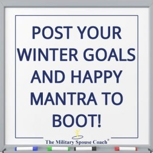 Post Your Winter Goals & Happy Mantra to Boot!
