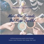 Make New Friends, Keep the Old over a top-view of several people holding coffee mugs together to toast